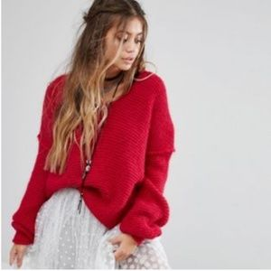 """Free People """"All Mine"""" v neck Sweater"""